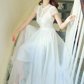 Women Long Maxi White Dress